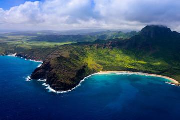 Aerial Hawaiian Coastline Wall mural