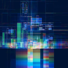 Abstract multicolored tech colorful background