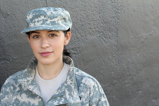 Female US Army Soldier wearing uniform