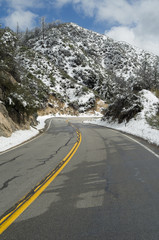 Angeles Crest Highway in the San Gabriel Mountains in Los Angeles County.
