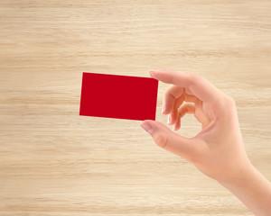 Business card presentation, get a business card