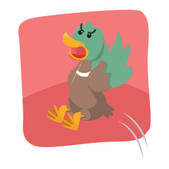 duck angry vector illustration design