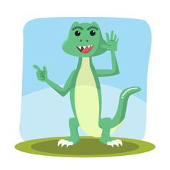 lizard character vector illustration design