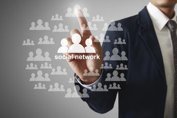 virtual icon of social network