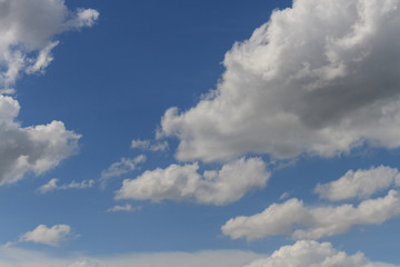 Blue sky with cloud close up