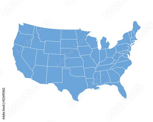 Wall mural USA map