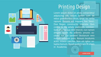 Printing Design Conceptual Banner.