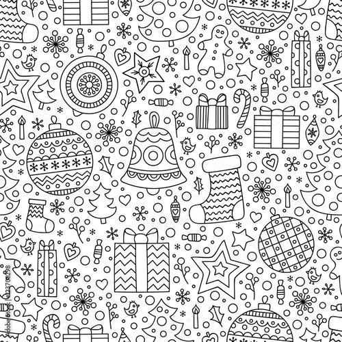 Quot Christmas Time Vector Seamless Pattern With Hand Drawn