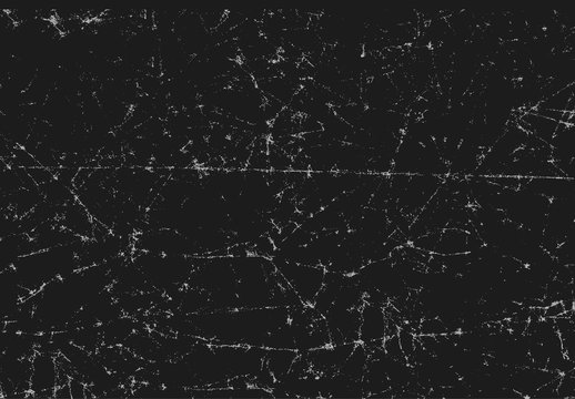 Black texture of scanned folded cracked and crumpled paper