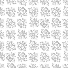 Damask vector classic silver pattern. Seamless abstract background with repeating diagonal elements