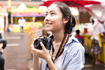 Young asian lady travel