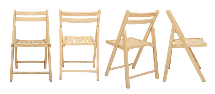 wooden chair  isolated on white background