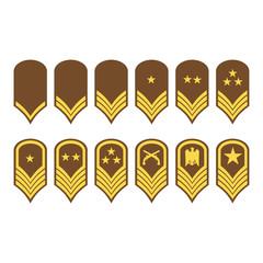 Epaulets, military ranks and insignia