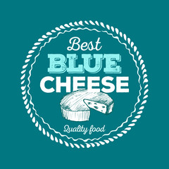 Best Blue Cheese icon hand drawn. Vector