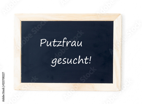 putzfrau gesucht stock photo and royalty free images on pic 123708227. Black Bedroom Furniture Sets. Home Design Ideas