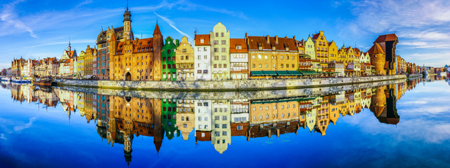 Canvas Prints City on the water Cityscape of Gdansk in Poland,beautiful view of the old city