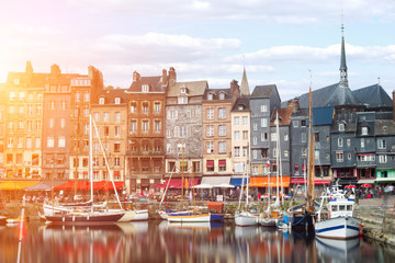 Honfleur city in Normandy , France Fotomurales