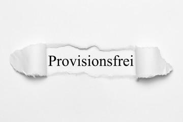 Provisionsfrei auf weißen gerissenen Papier
