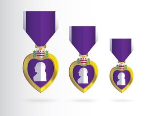 Vector Purple Heart_USA pride