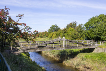 Footbridge over stream UK