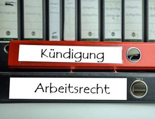 Kündigung/Arbeitsrecht Aktenordner