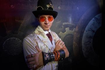 Foto op Canvas Surrealisme Portrait of a steam punk man