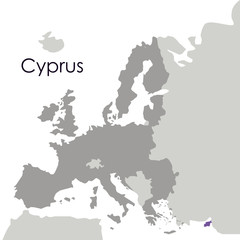 Cyprus map icon. Europe nation and government theme. Isolated design. Vector illustration