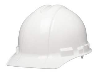 Construction Safety Hardhat Helmet on White