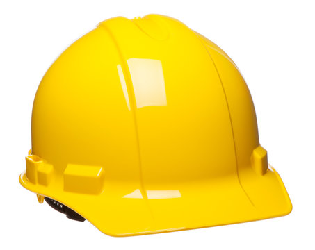 Construction Safety Hardhat Helmet on White
