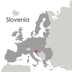 Slovenia map icon. Europe nation and government theme. Isolated design. Vector illustration