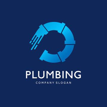 Vector logo template for plumbing company.