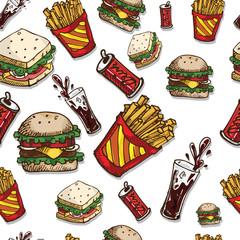 pattern hamburger dribk sandwich