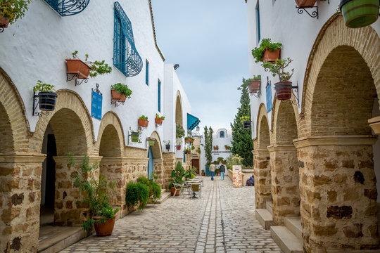 Lovely little street in Hammamet Tunisia