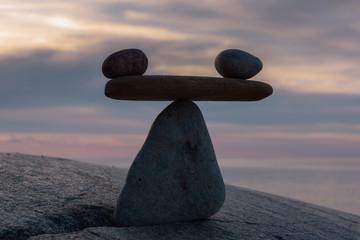 Stones in evening