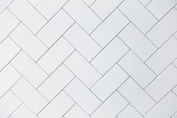 Obraz white ceramic brick tile - fototapety do salonu