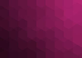 maroon pattern of hexagons and triangles