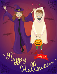 happy halloween party. poster
