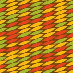 Vector rastafarian snake skin pattern