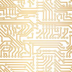 Vector golden technology pattern