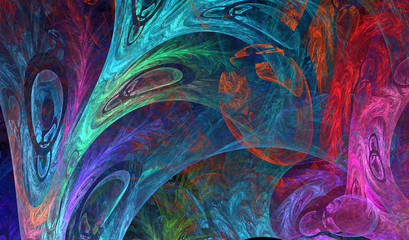abstract fractal multicolored shape