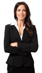 Confident Businesswoman on White