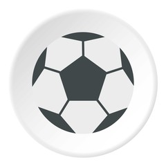 Soccer ball icon. Flat illustration of soccer ball vector icon for web