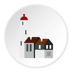 Houses icon. Flat illustration of houses vector icon for web