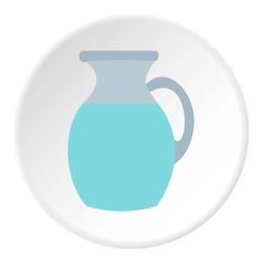Jug of milk icon. Flat illustration of jug of milk vector icon for web