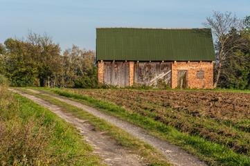 Old hut in a village