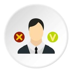 Dismissal of employees icon. Flat illustration of dismissal of employees vector icon for web