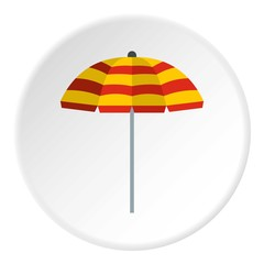 Beach umbrella icon. Flat illustration of beach umbrella vector icon for web