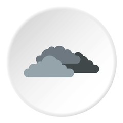 Clouds icon. Flat illustration of clouds vector icon for web