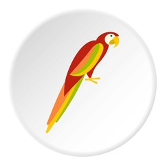 Parrot icon. Flat illustration of parrot vector icon for web