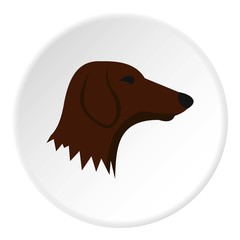 Dachshund dog icon. Flat illustration of dachshund dog vector icon for web